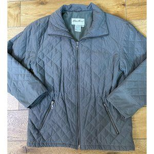 Eddie Bauer Quilted Everyday Coat XS Olive Green
